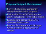 program design development