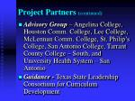 project partners continued