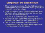 sampling of the endometrium