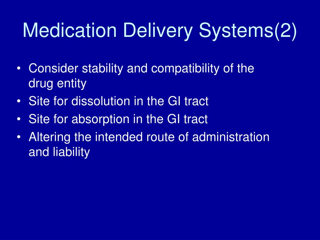 Medication Delivery Systems(2)