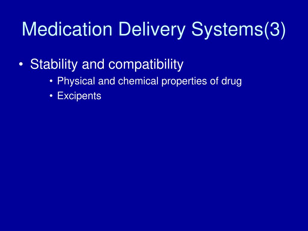 Medication Delivery Systems(3)