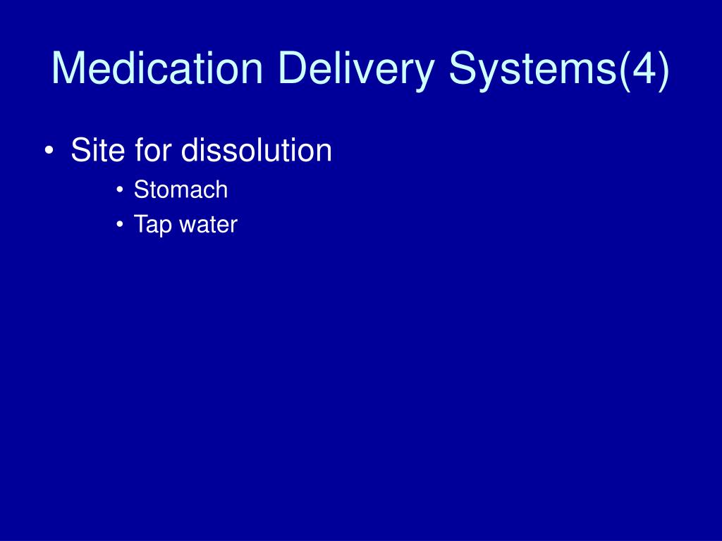 Medication Delivery Systems(4)