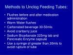 methods to unclog feeding tubes