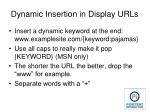 dynamic insertion in display urls