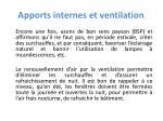 apports internes et ventilation