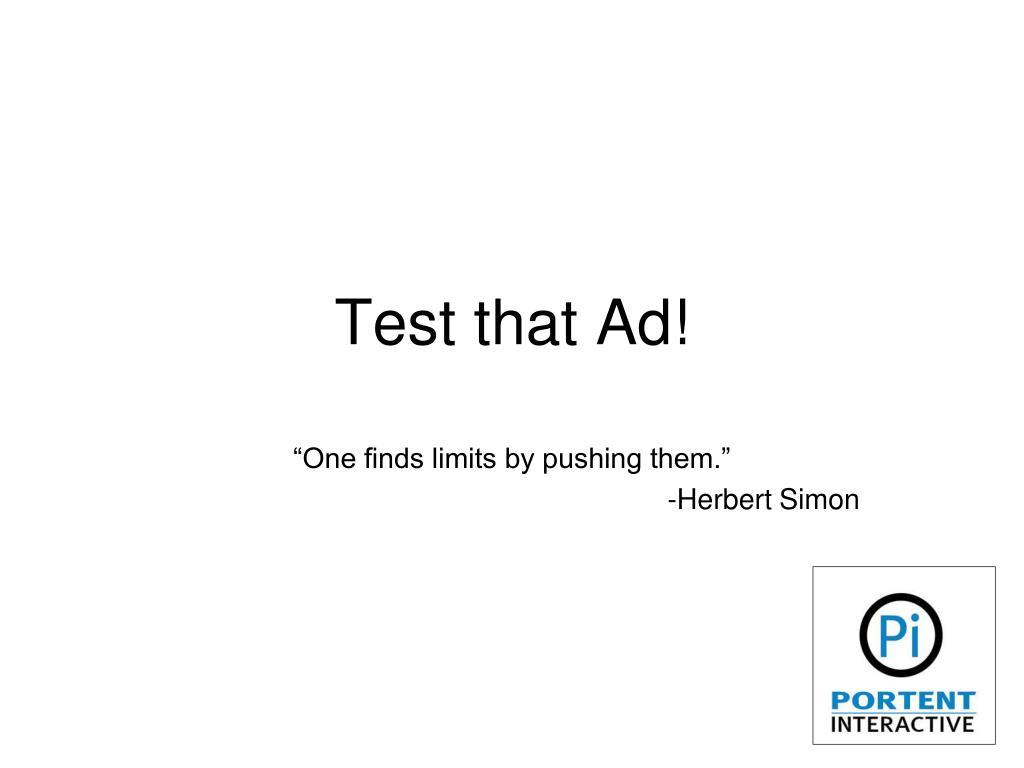 test that ad l.