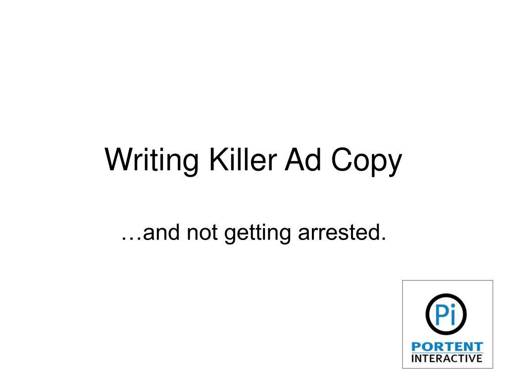 writing killer ad copy l.