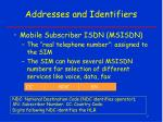 addresses and identifiers1