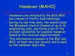 handover maho