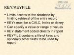 key keyfile