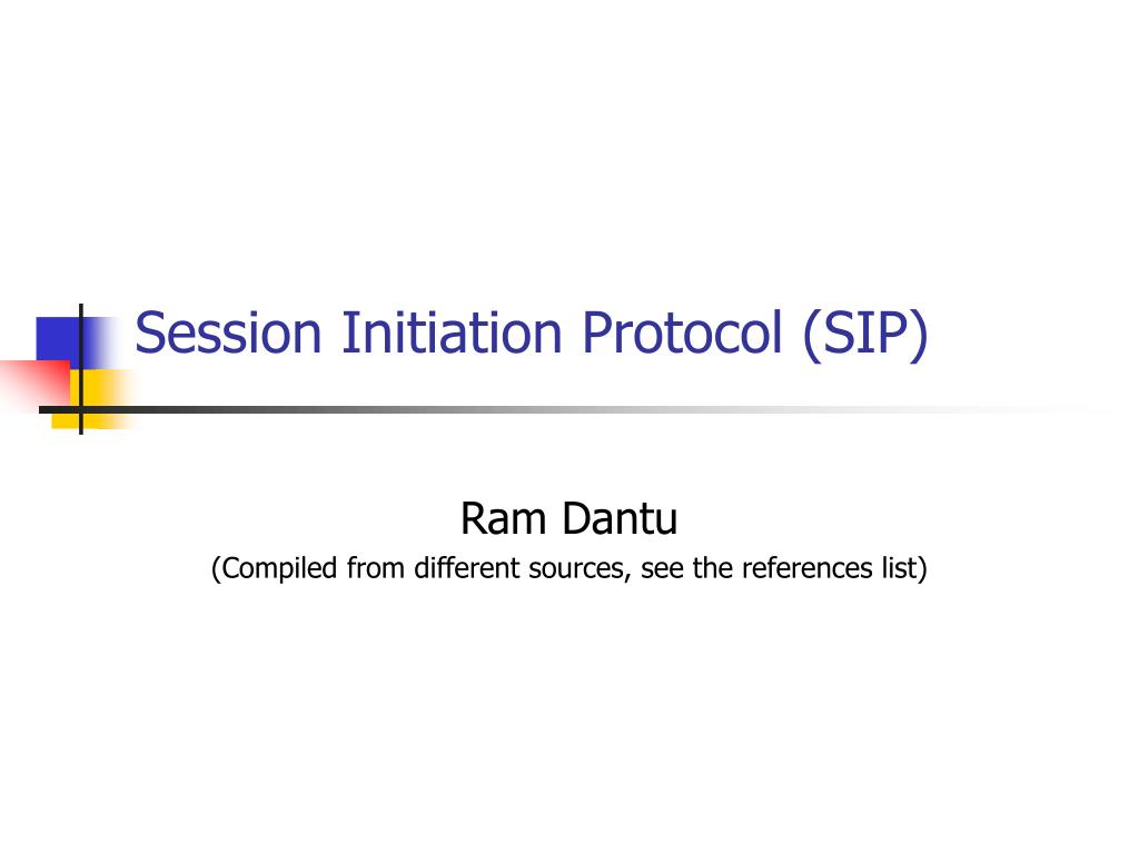 session initiation protocol sip l.