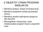 4 objektif utama program amalan 5s