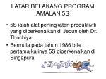 latar belakang program amalan 5s