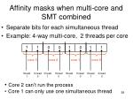 affinity masks when multi core and smt combined