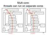 multi core threads can run on separate cores