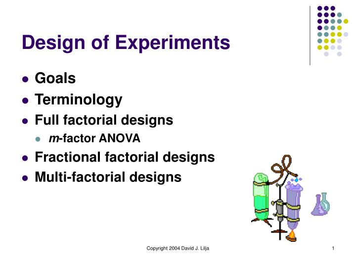 design of experiments n.