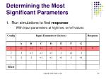 determining the most significant parameters