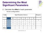 determining the most significant parameters54