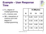 example user response time