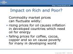 impact on rich and poor