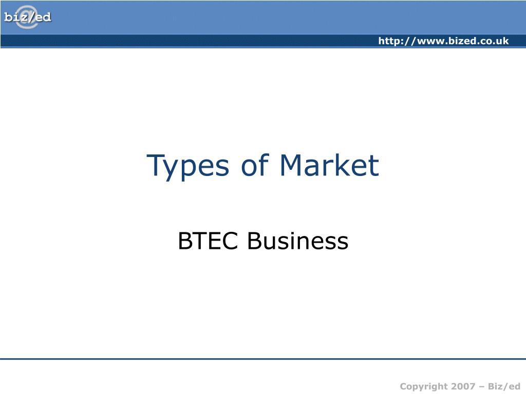 types of market l.