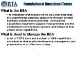 foundational questions terms
