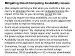 mitigating cloud computing availability issues