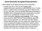 some generally accepted characteristics