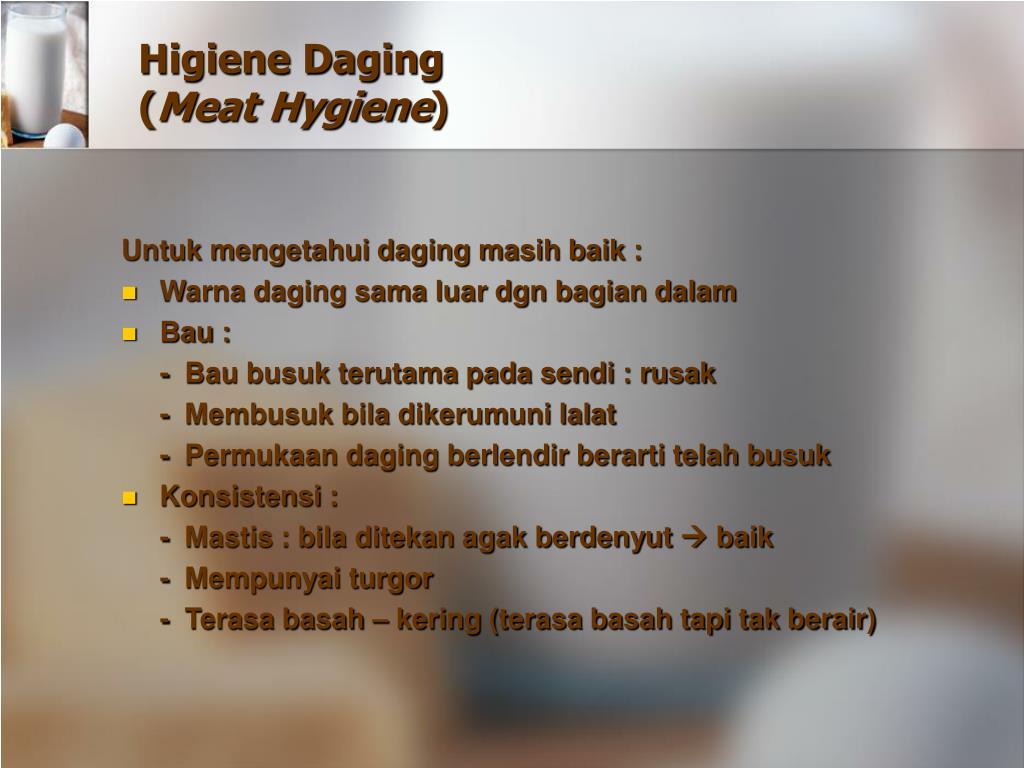 Higiene Daging