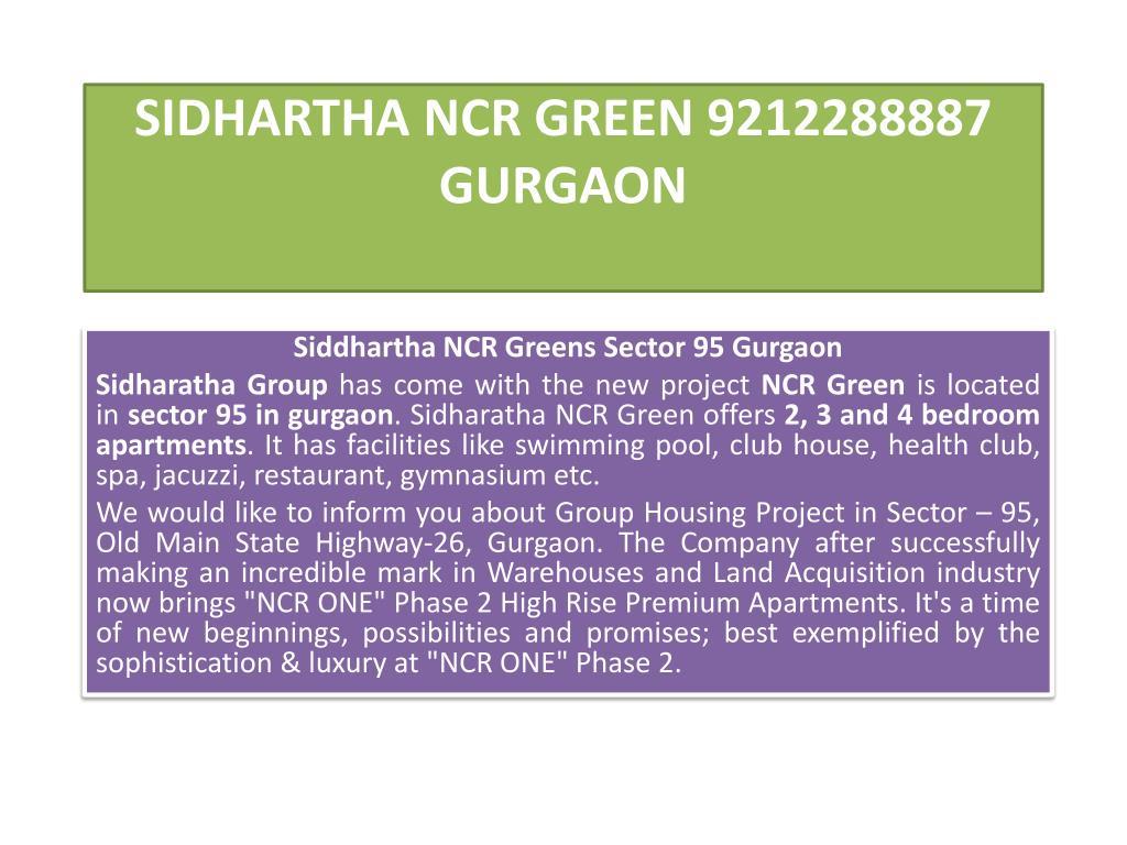 sidhartha ncr green 9212288887 gurgaon l.