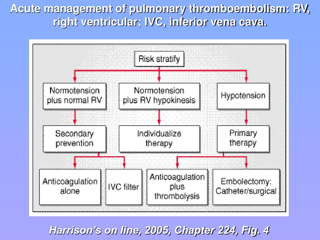 Acute management of pulmonary thromboembolism: RV, right ventricular; IVC, inferior vena cava.