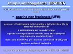 terapia anticoagulante eparina