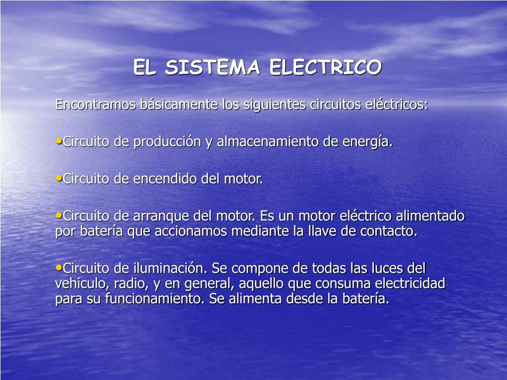 el sistema electrico l.
