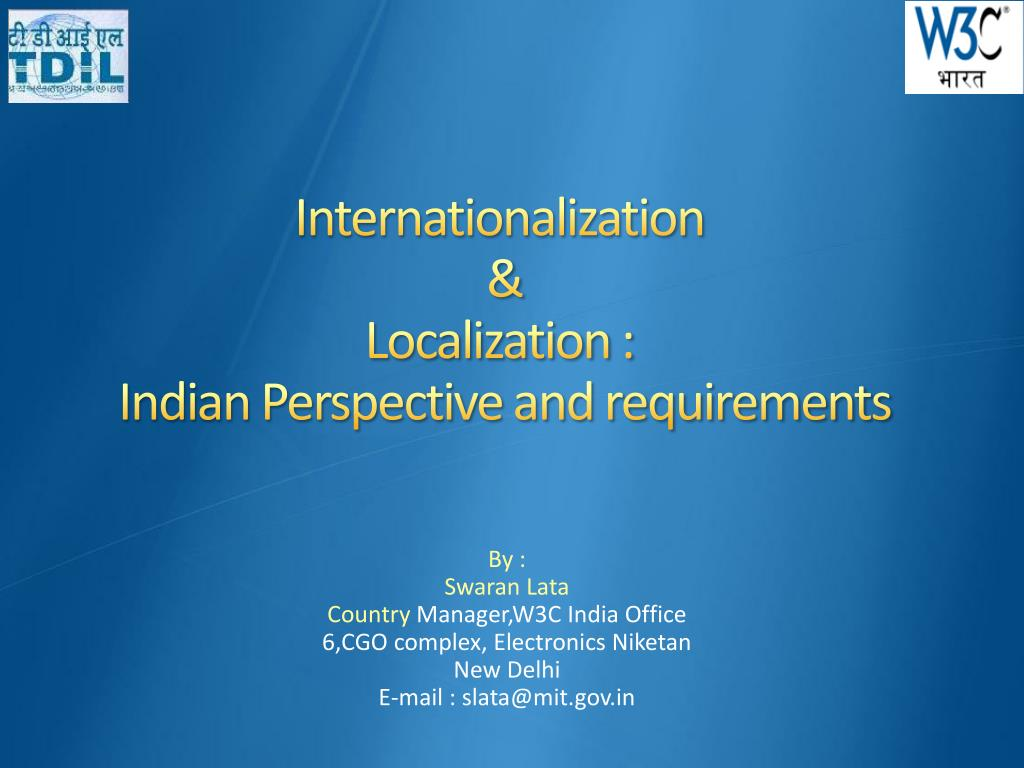 internationalization localization indian perspective and requirements l.