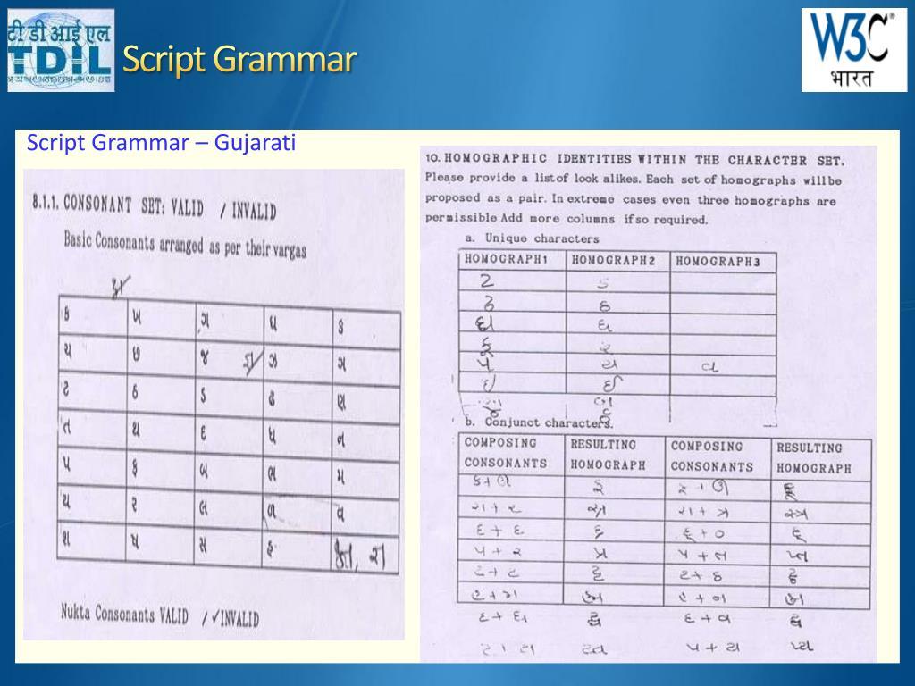Script Grammar