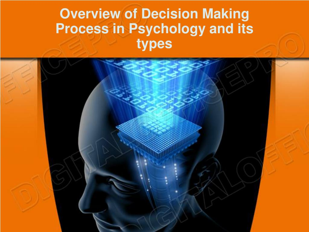 overview of decision making process in psychology and its types l.