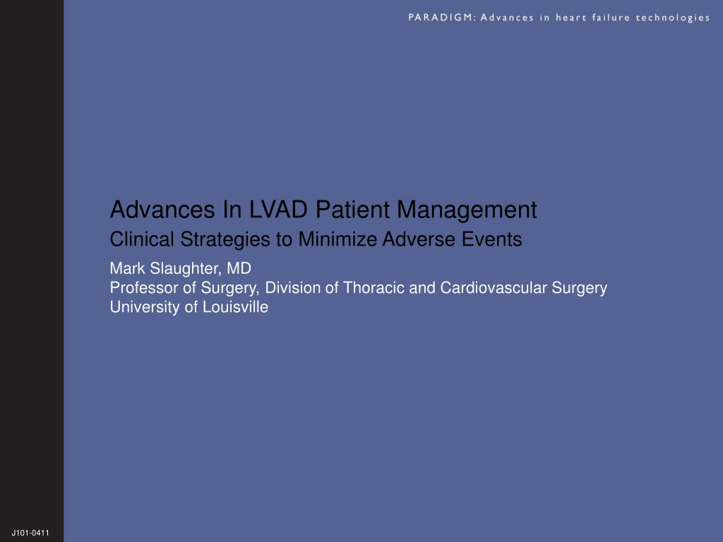 advances in lvad patient management l.