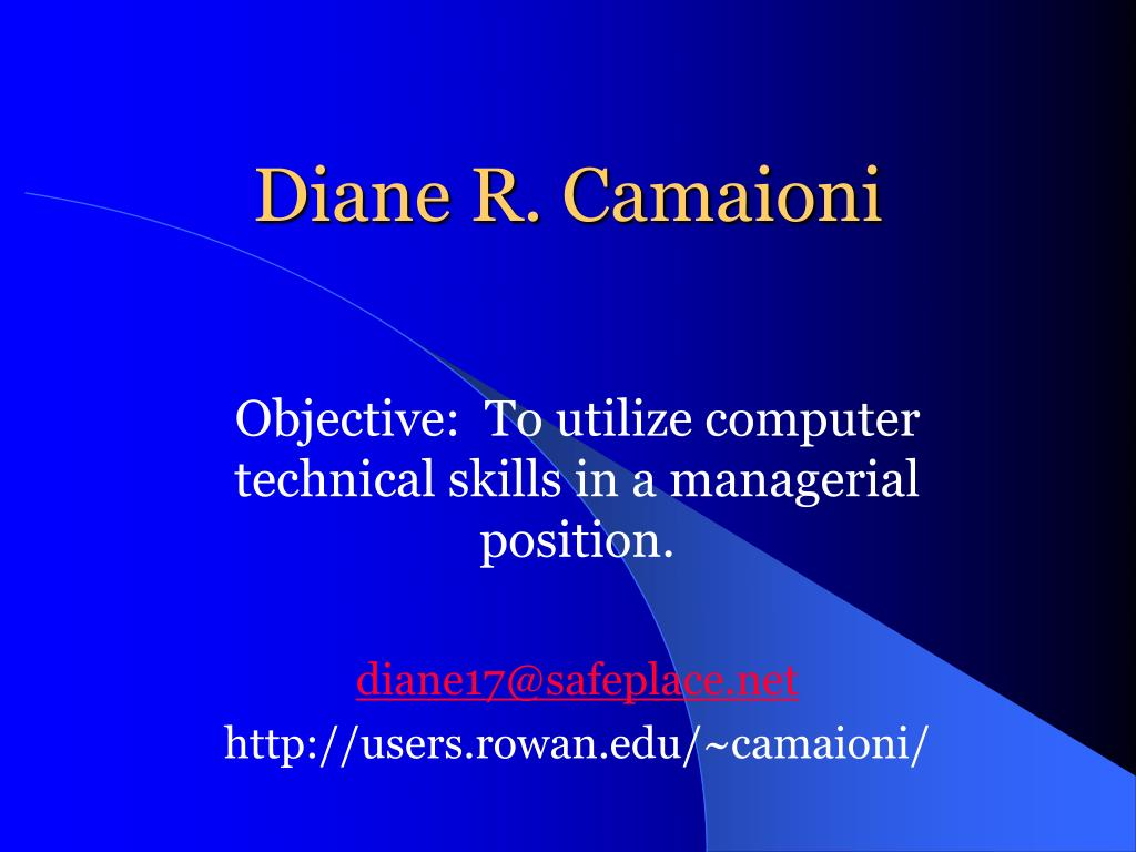 Diane R. Camaioni