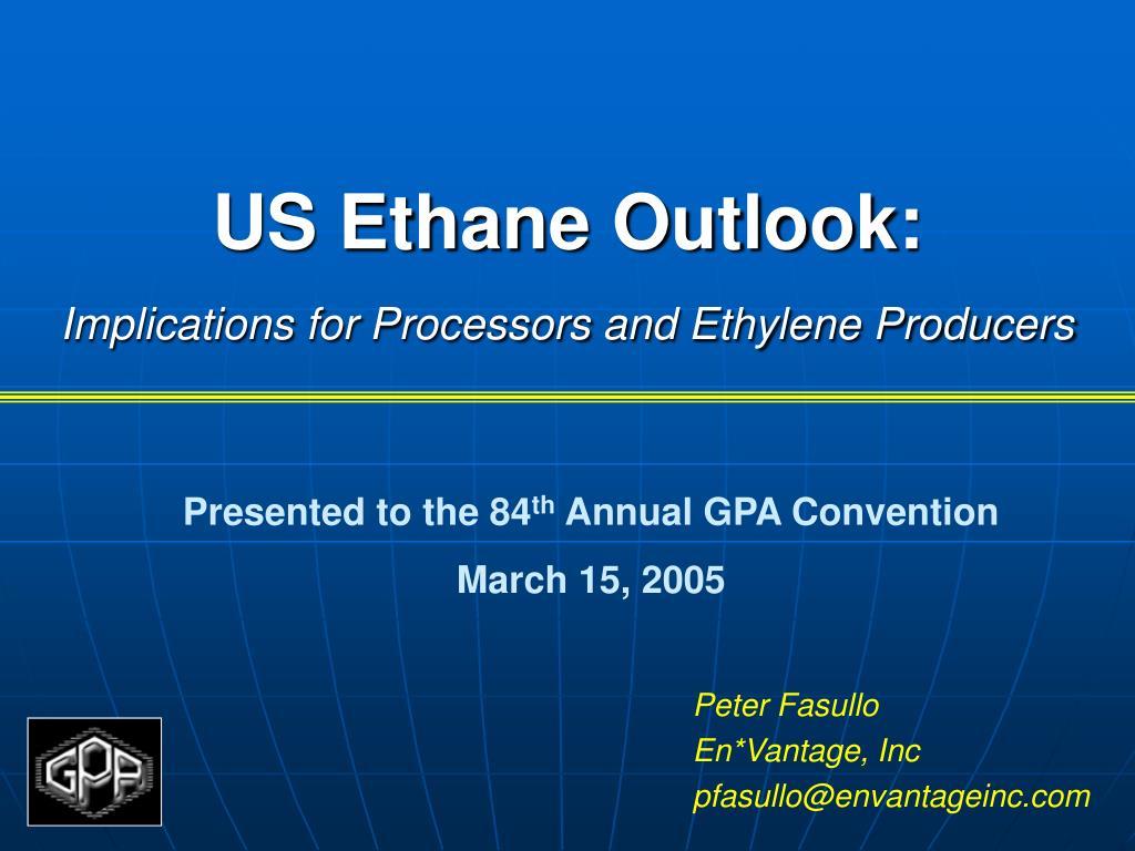 US Ethane Outlook: