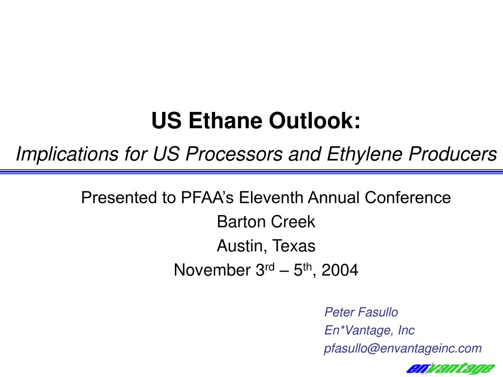us ethane outlook implications for us processors and ethylene producers l.