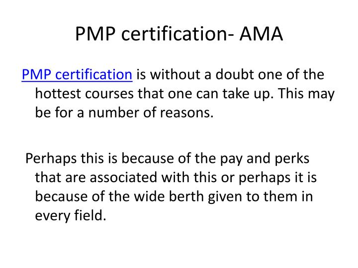 Pmp certification ama