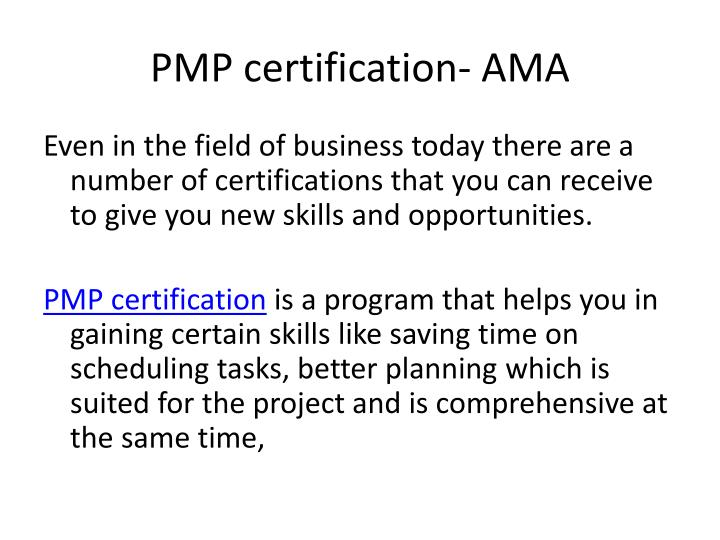 Pmp certification ama3