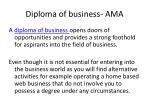 diploma of business ama3