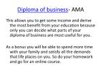 diploma of business ama6