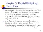 chapter 7 capital budgeting cash flows