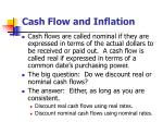 cash flow and inflation