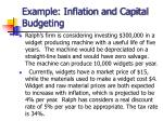 example inflation and capital budgeting
