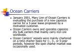ocean carriers