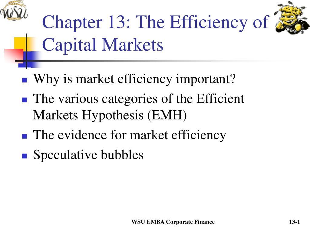 capital market efficiency