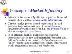 concept of market efficiency